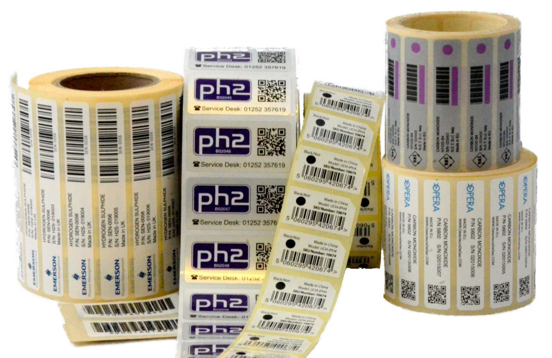 Bar codes and QR code labels