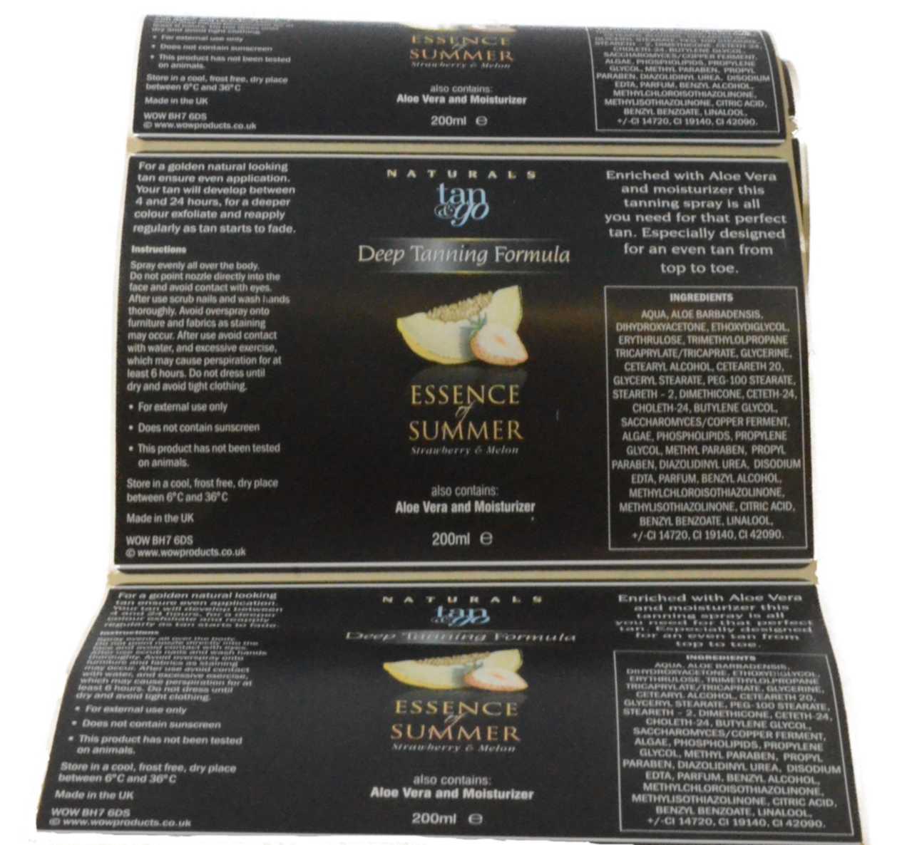 Tanning label DSC 7990